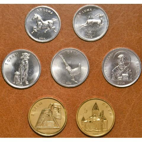 Republic of Artsakh 7 coins 2004 (UNC)