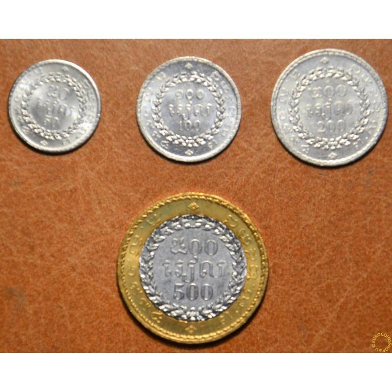 Cambodia 4 coins (UNC)