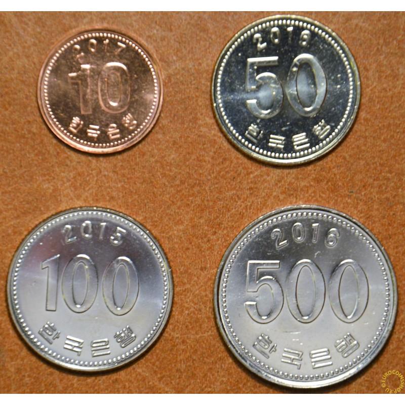 South Korea 4 coins 2015-2017 (UNC)