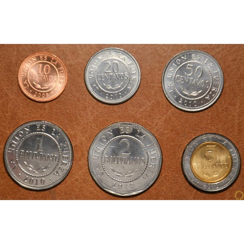 Bolivia 6 coins 2008-2010 (UNC)