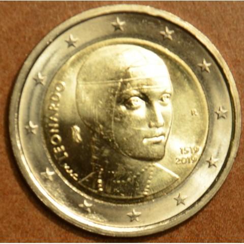 Damaged 2 Euro Italy 2019 - Leonardo da Vinci (UNC)