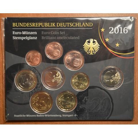 "Set of 9 coins Germany 2016 ""F"" (BU)"