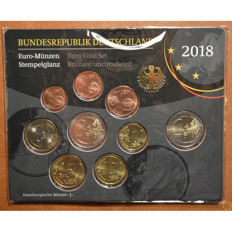 "Set of 9 coins Germany 2018 ""J"" (UNC)"