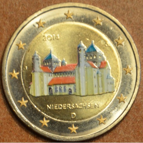 "2 Euro Germany ""J"" 2014 - St. Michael church - Niedersachsen II. (colored UNC)"