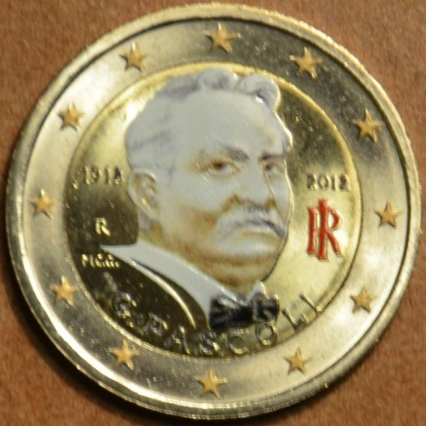 2 Euro Italy 2012 - 100th Anniversary of the Death of Giovanni Pascoli II. (colored UNC)