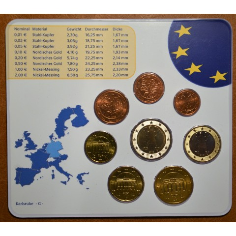 "Set of 8 eurocoins ""G"" Germany 2005 (BU)"