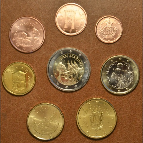 Set of 8 eurocoins San Marino 2019 (UNC)