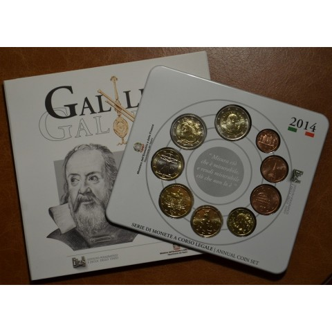 Official set of 9 Italian coins 2014  (BU)
