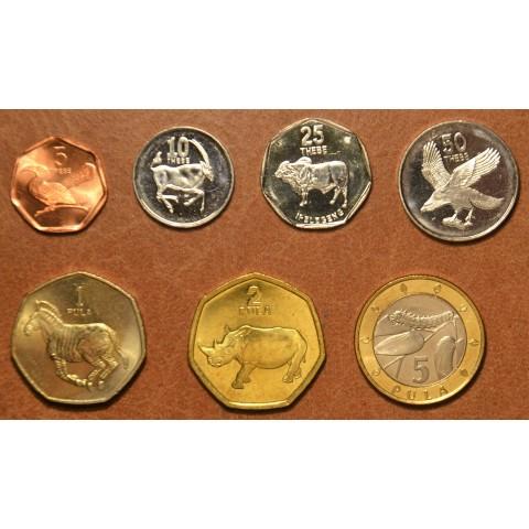 Botswana 7 coins 1998-2004 (UNC)
