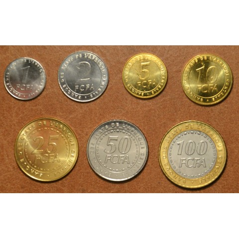 Central African franc 7 coins 2006 (UNC)