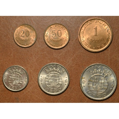 Timor 6 coins 1970 (UNC)