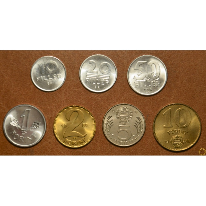 Hungary 7 coins 1988-1990 (UNC)