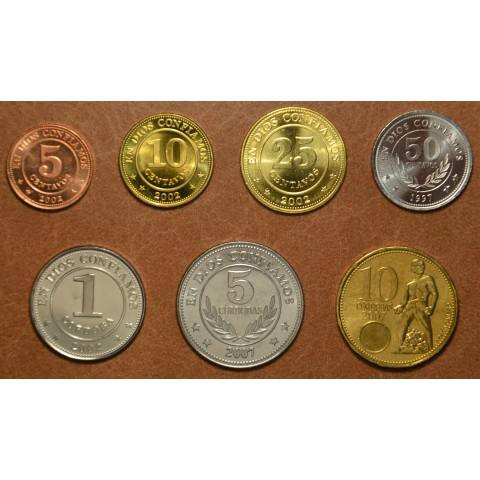 Nicaragua 7 coins 1997-2007 (UNC)