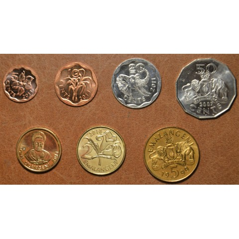Kingdom of Eswatini 7 coins 1999-2011 (UNC)