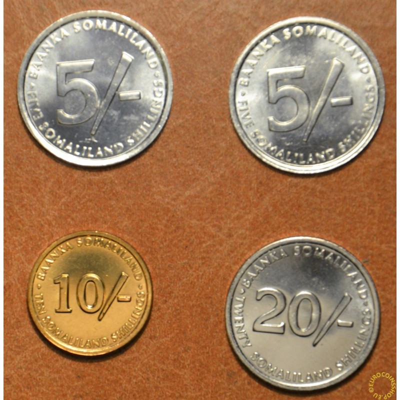 Somaliland 4 coins 2002 (UNC)