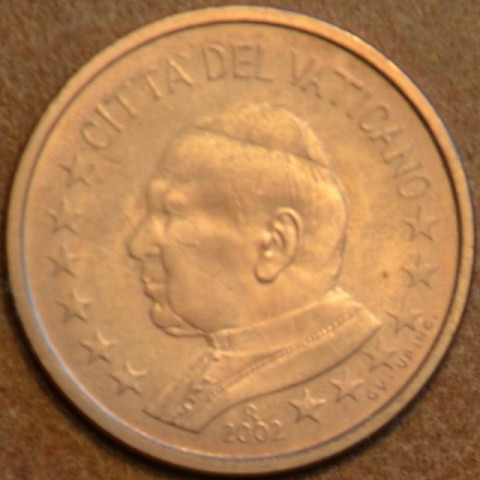 5 cent Vatican His Holiness Pope John Paul II 2002 (BU)