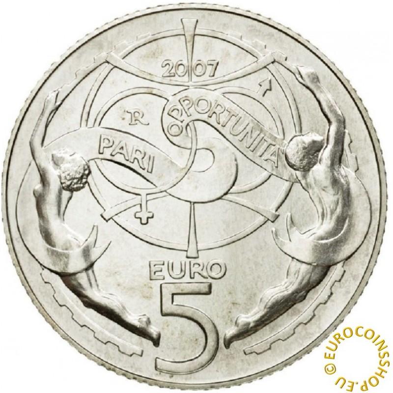 5 Euro San Marino 2007 - Pari opportunita  (BU)