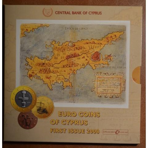 Set of 8 eurocoins Cyprus 2008 (BU)