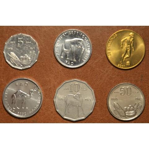 Somali shilling 6 coins 1976-2001 (UNC)