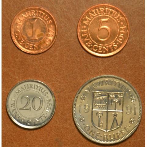 Mauritius 4 coins 1987-1994 (UNC)