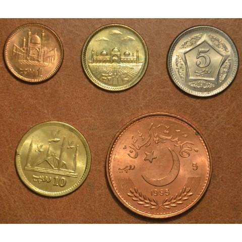 Pakistan 5 coins 1995-2016 (UNC)