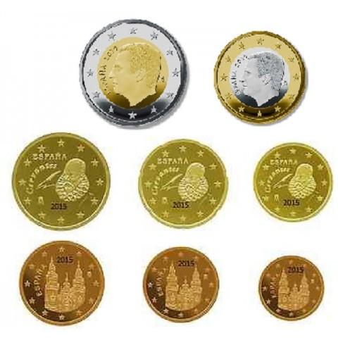 Set of 8 coins Spain 2015 (UNC)