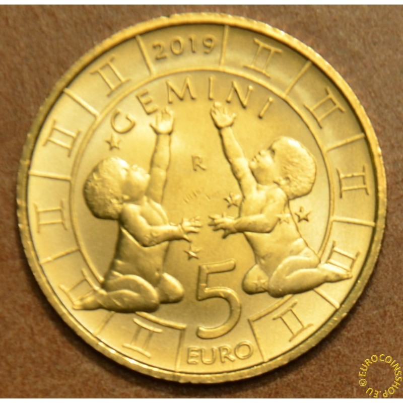 5 Euro San Marino 2018 Zodiac: Gemini (UNC)