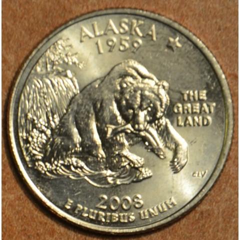 """25 cent USA 2008 Alaska """"D"""" (UNC)"""