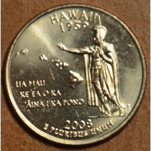 """25 cent USA 2008 Hawaii """"D"""" (UNC)"""