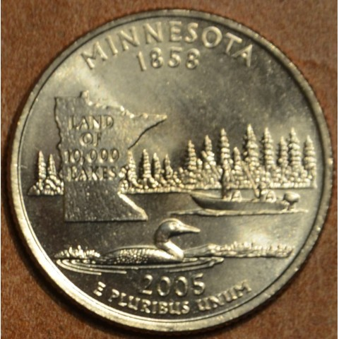 "25 cent USA ""D"" 2005 Minnesota (UNC)"