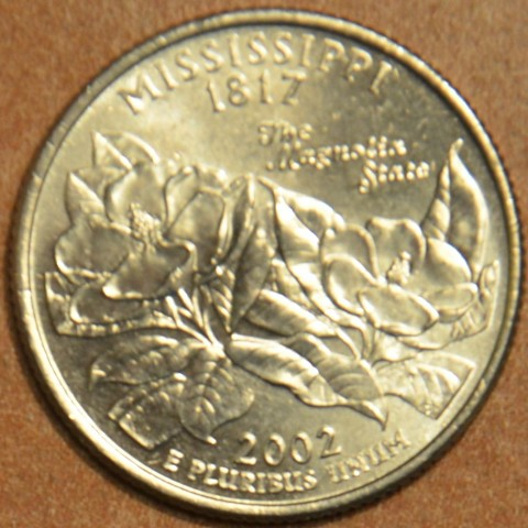 "25 cent USA 2002 Mississippi ""D"" (UNC)"