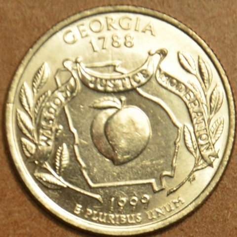 "25 cent USA ""D"" 1999 Georgia (UNC)"