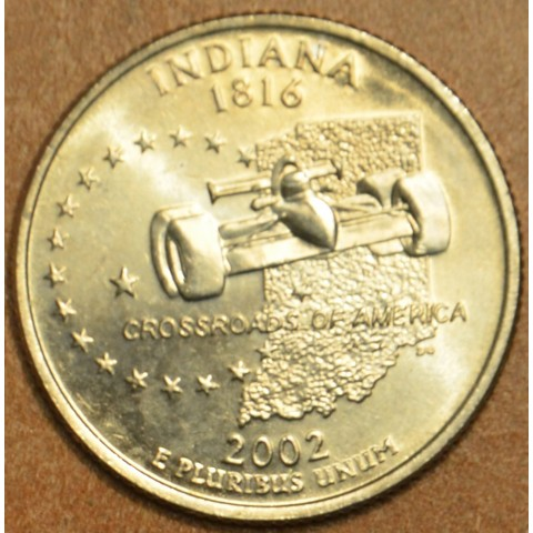 "25 cent USA ""D"" 2002 Indiana (UNC)"