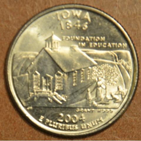 """25 cent USA """"D"""" 2004 Iowa (UNC)"""