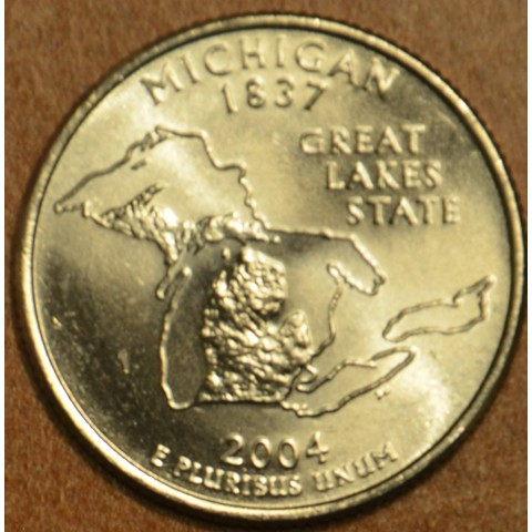 "25 cent USA 2004 Michigan ""D"" (UNC)"