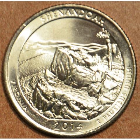 """25 cent USA """"D"""" 2014 Shenandoah (UNC)"""