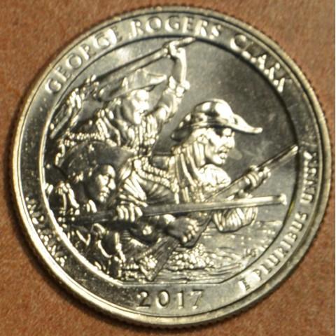 "25 cent USA 2017 George Rogers Clark ""D"" (UNC)"
