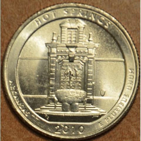"""25 cent USA 2010 Hot Springs """"D"""" (UNC)"""