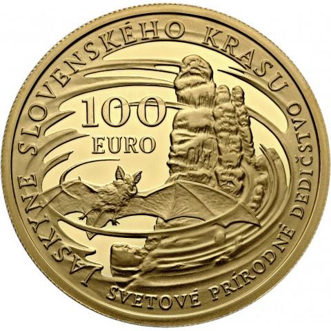 100 Euro Slovakia 2017 - Caves of Slovak Karst (Proof)