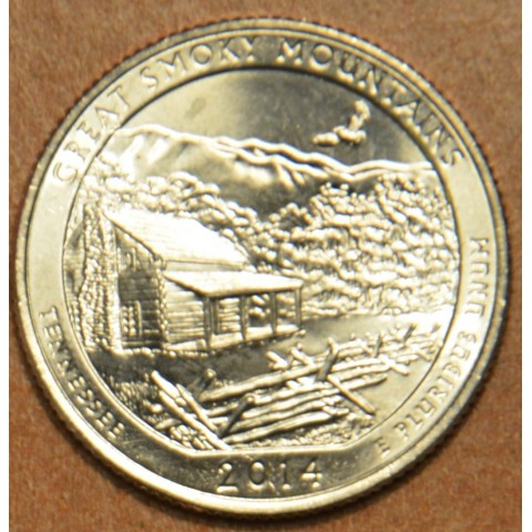 """25 cent USA """"D"""" 2014 Great Smoky Mountains (UNC)"""