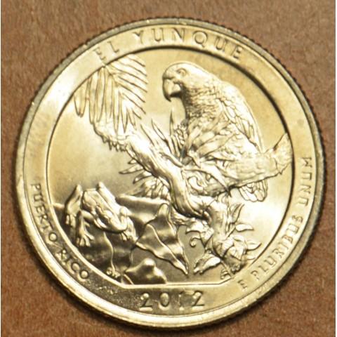 """25 cent USA 2012 El Yunque """"D"""" (UNC)"""