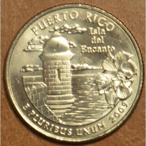 """25 cent USA 2009 Puerto Rico """"D"""" (UNC)"""