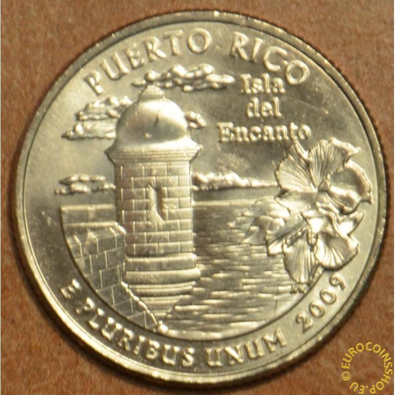"""25 cent USA """"D"""" 2009 Puerto Rico (UNC)"""