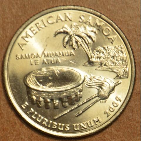 "25 cent USA 2009 American Samoa ""D"" (UNC)"