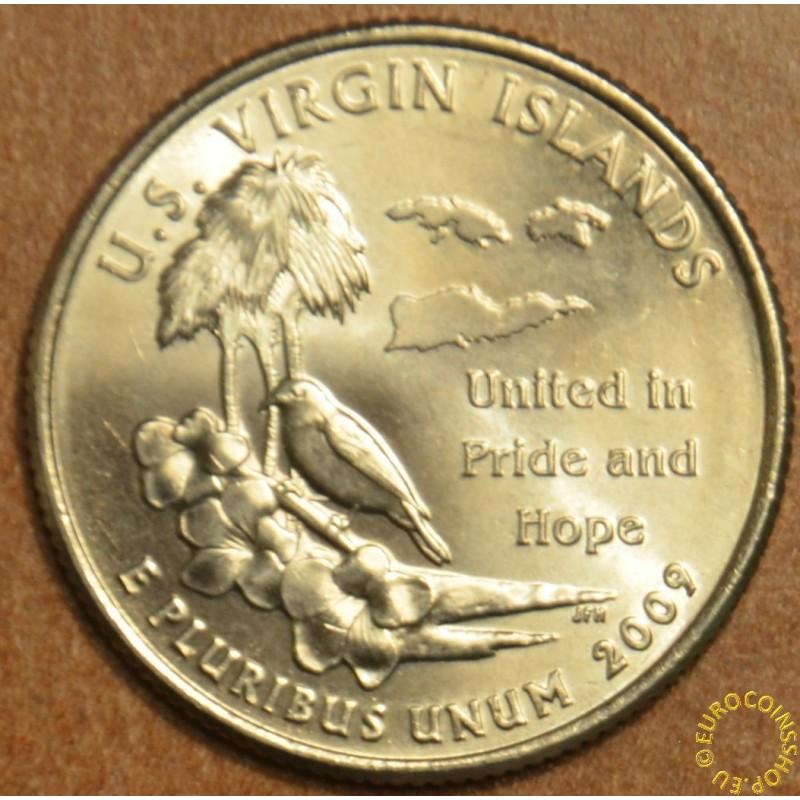 """25 cent USA """"D"""" 2009 US Virgin Islands (UNC)"""