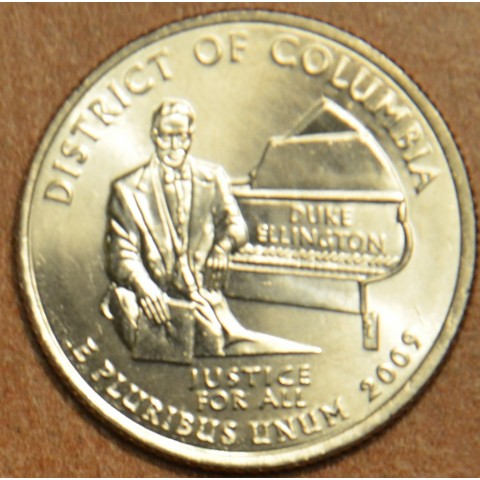 """25 cent USA 2009 District of Columbia """"D"""" (UNC)"""