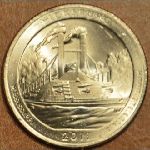 "25 cent USA 2011 Vicksburg ""D"" (UNC)"