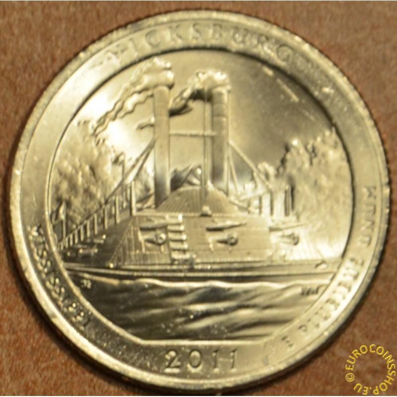 "25 cent USA ""D"" 2011 Vicksburg (UNC)"