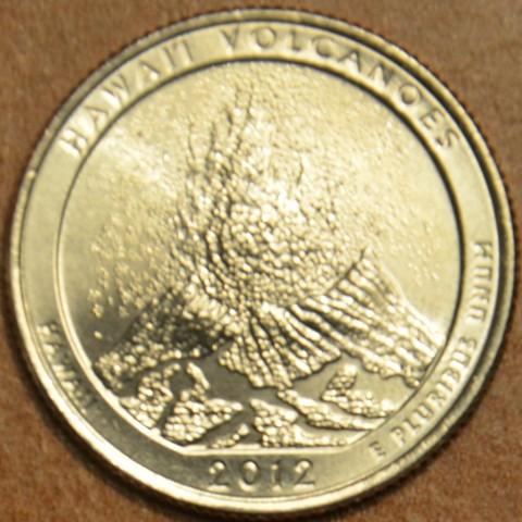 "25 cent USA 2012 Hawaii Volcanoes ""D"" (UNC)"