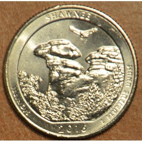 "25 cent USA 2016 Shawnee ""D"" (UNC)"